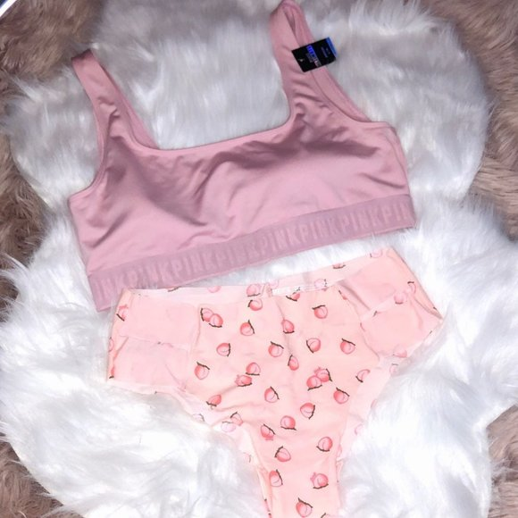 VS PINK SPORTS BRA & PANTY SET LG NWT